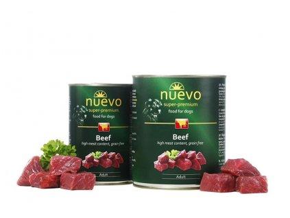 NUEVO dog Adult Beef 400 g konzerva
