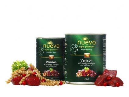 NUEVO dog Adult Venison Menue 400 g konzerva