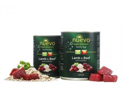 NUEVO dog Senior Lamb & Oat Flakes 400 g konzerva