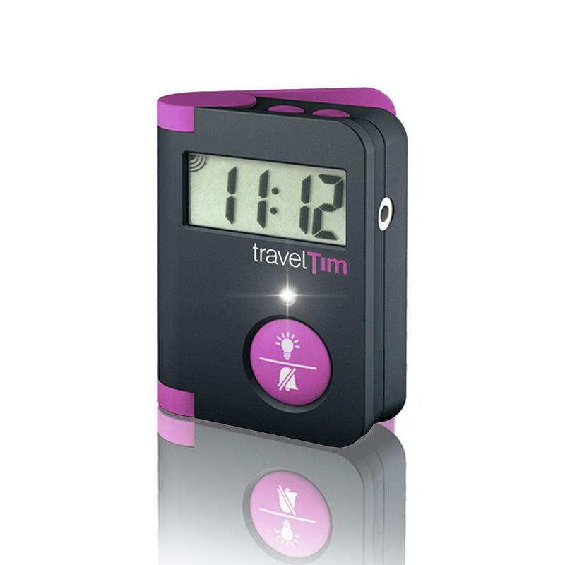 Cestovní vibrační budík TravelTim Magenta