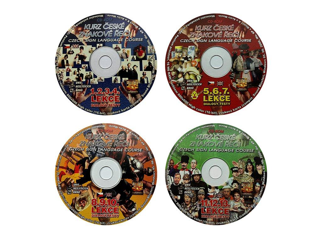 Multimediální CD 1, 2, 3 a 4 - Kurz českého znakového jazyka