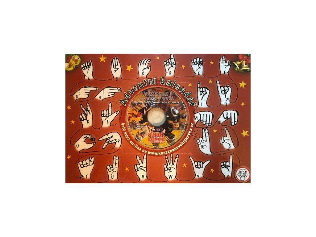 Adventní kalendář s prstovou abecedou