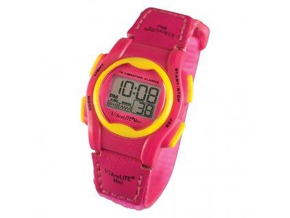 VIBRALITE MINI - digitální hodinky (barva červeno-růžové)