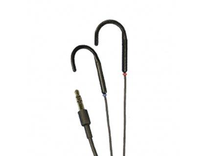 Indukční stereo sluchátka MUSIC-LINK + (černá)
