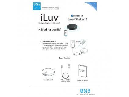 Bezdrátový vibrační polštářek iLuv SmartShaker 2 Black