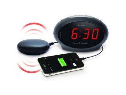 Vibrační a zvukový budík Sonic Traveler SBT600SS