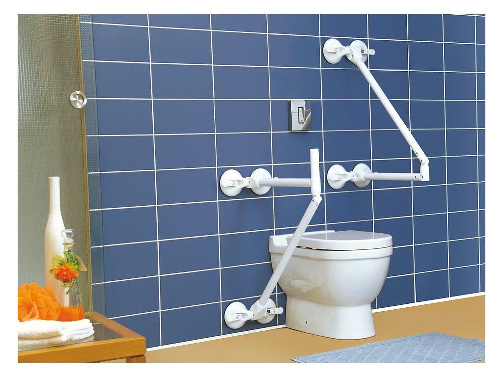 Zátěžové madlo 1 ks s bezpečnostním ukazatelem na vstávání z WC