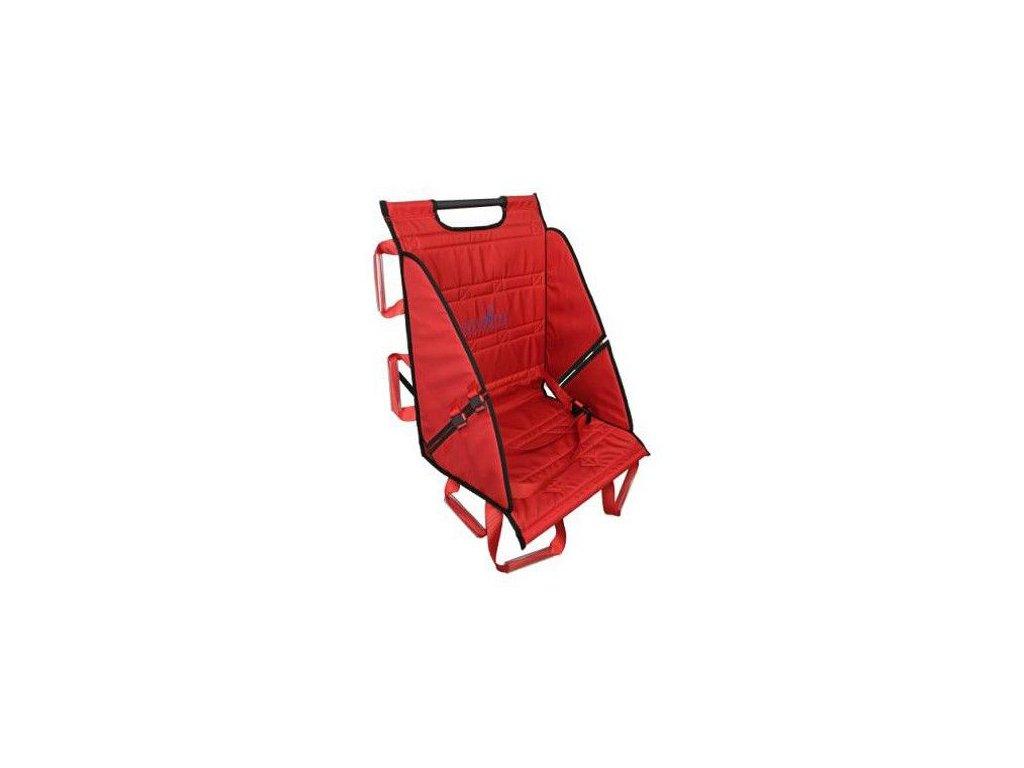 Přepravní sedací nosítka - pomůcka k nošení pacientů po schodech