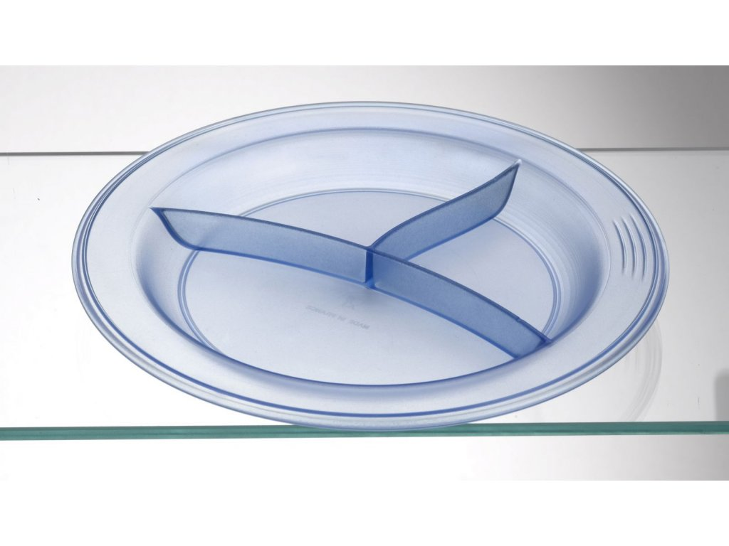 Protiskluzový talíř, 3 oddíly