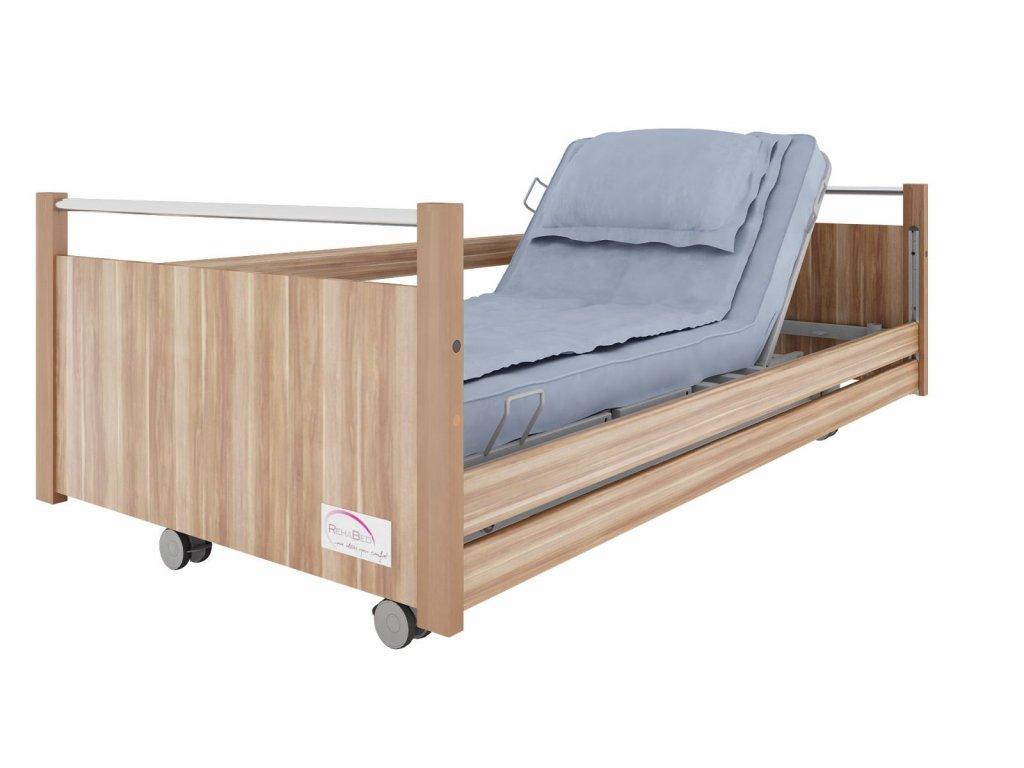 Polohovací postel pro seniory LEO + rošt, typ A