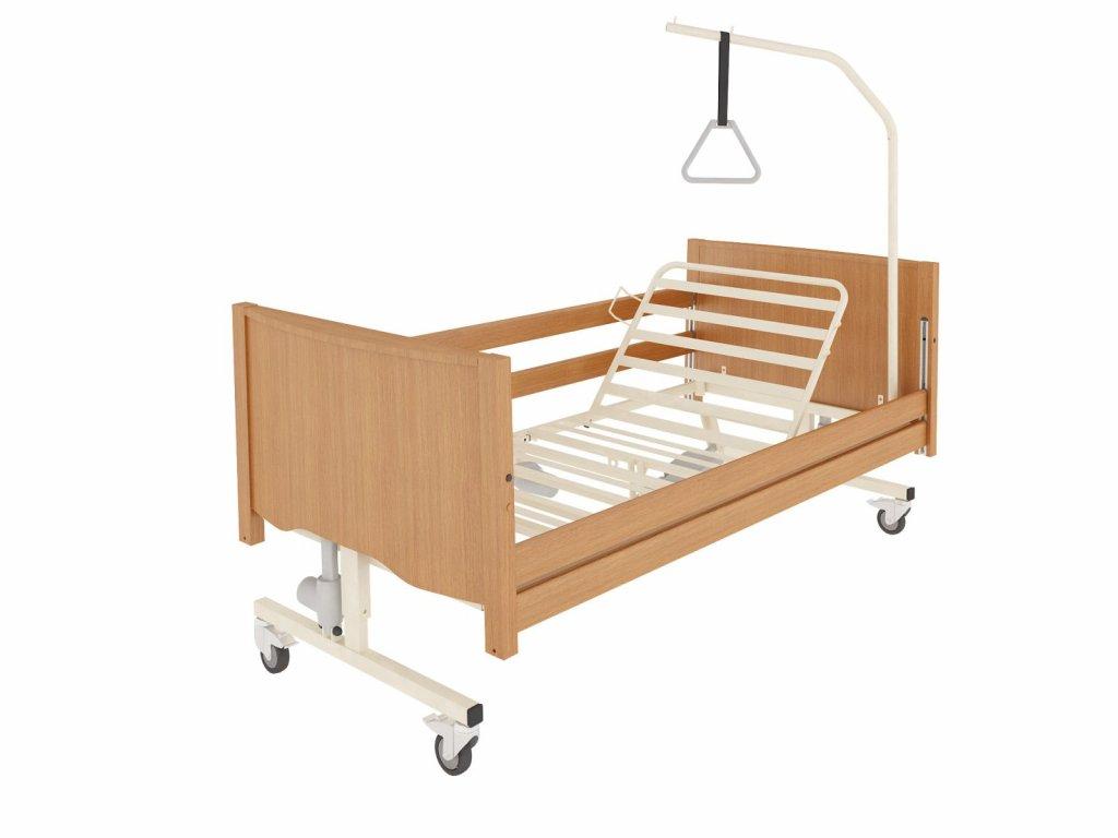 Polohovací postel pro seniory TAURUS LUX  + rošt, se skrytým motorem