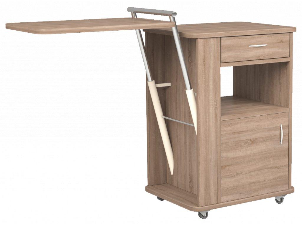 Noční stolek s výškově nastavitelnou jídelní deskou