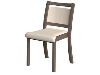 Židle bez područek, polstrovaná, s nízkým opěradlem