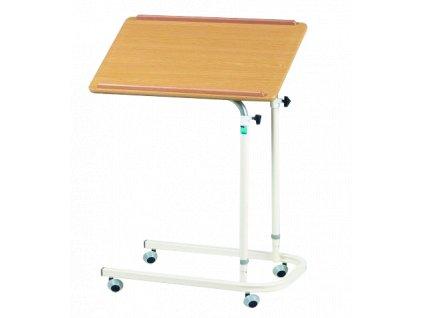 Jídelní stolek s nastavitelnou výškou a náklonem,  4x kolečka