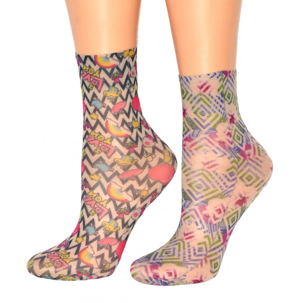 Magnetis ponožky vzory NÁPISY (2 vzory)