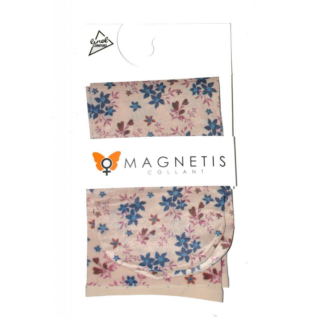 Magnetis silonové ponožky KVĚTOVANÉ