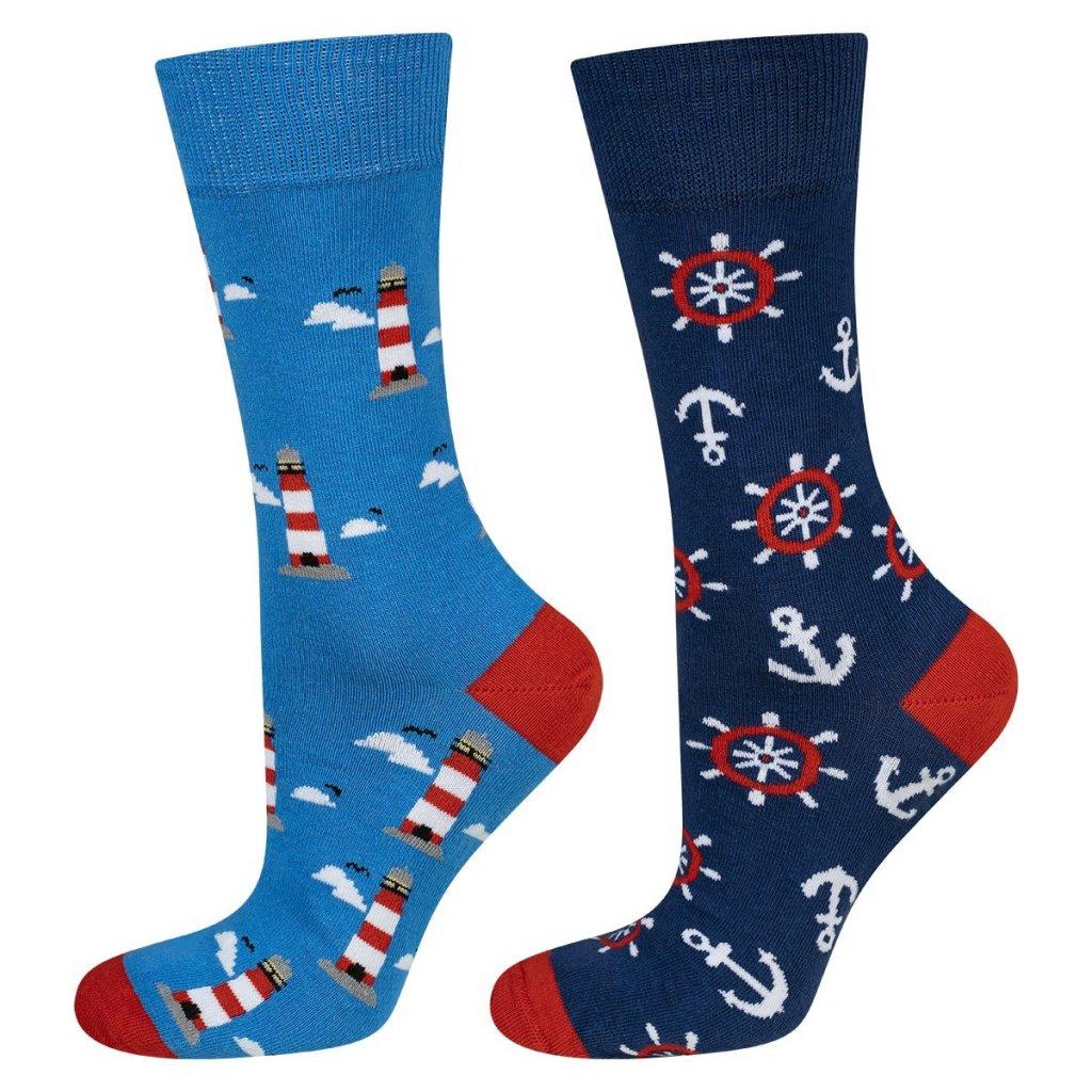 eng pl Colorful mismatched SOXO GOOD STUFF socks lighthouse 23044 1
