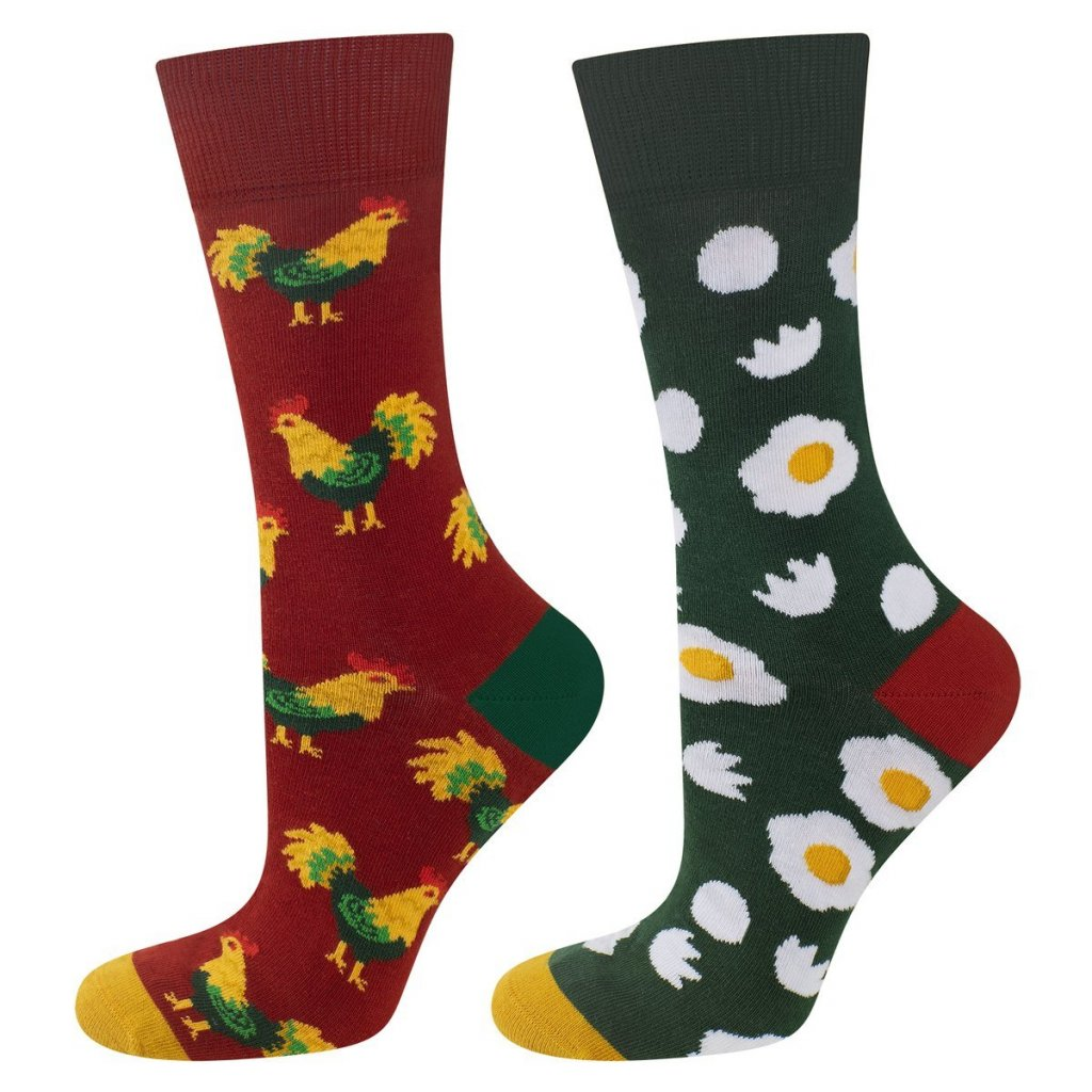 eng pl Colorful mismatched socks SOXO GOOD STUFF cock and eggs 23043 2