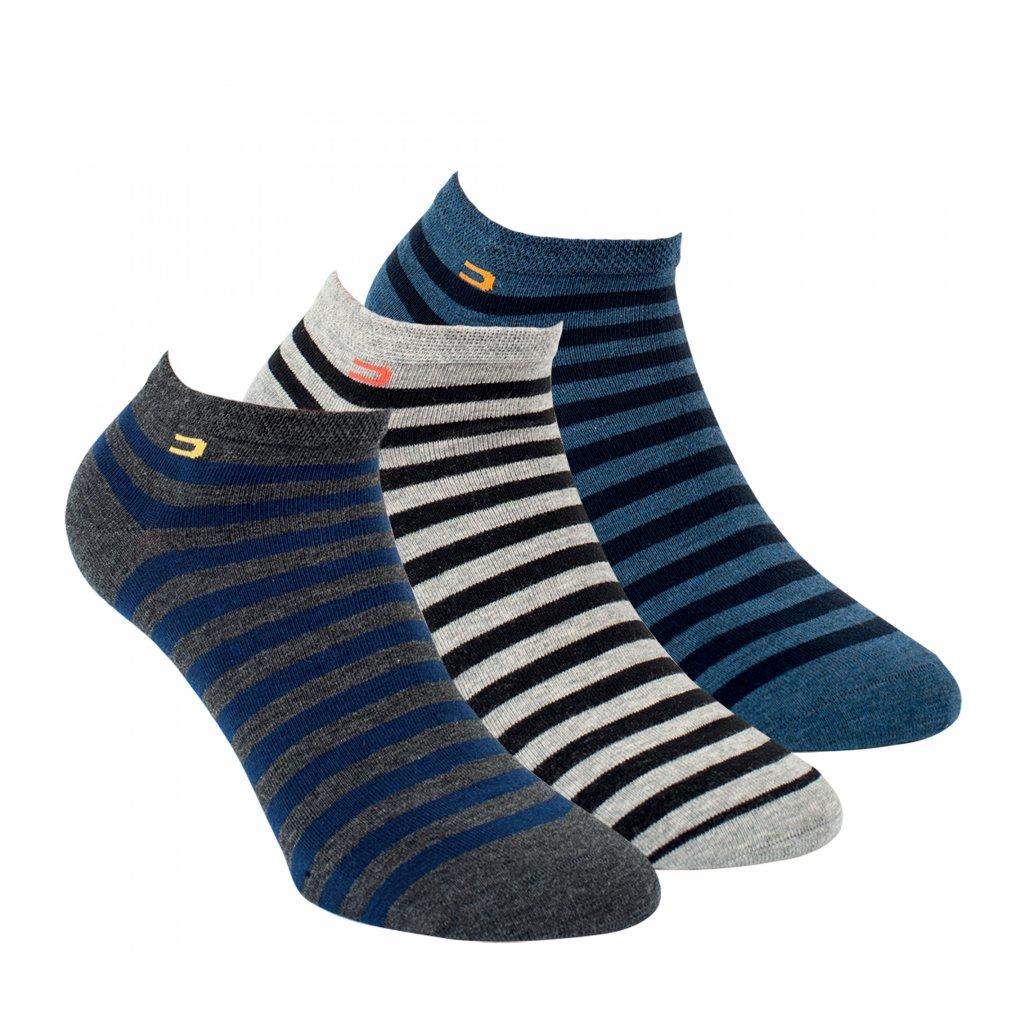 RS  kotníkové ponožky PRUHY