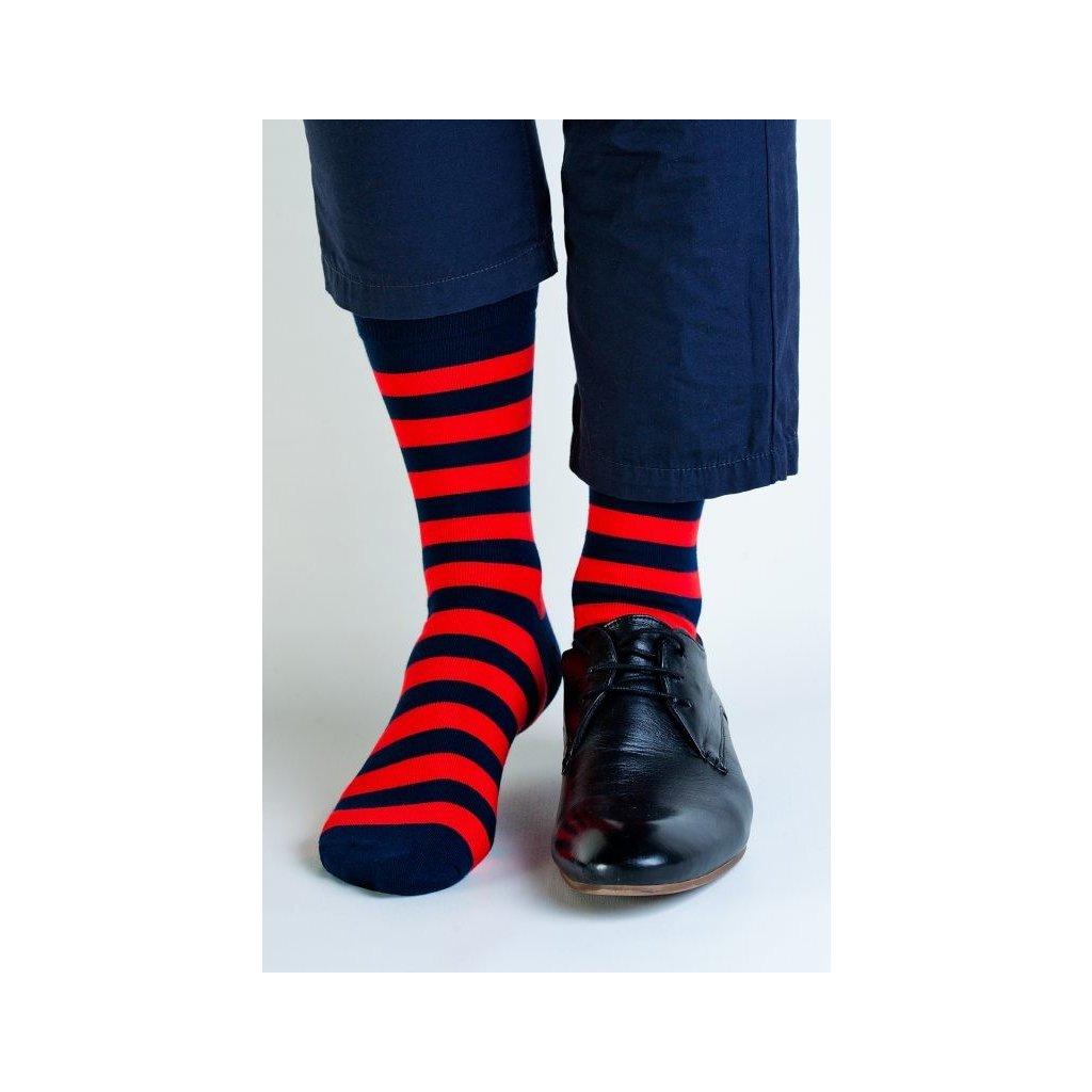 Pruhované bambusové ponožky (Regina)