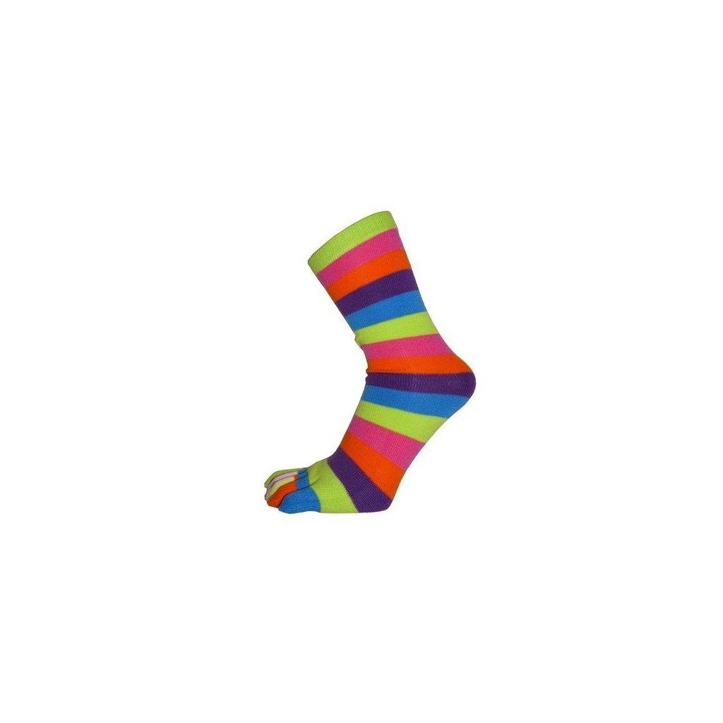 Veselé pruhované prstové ponožky