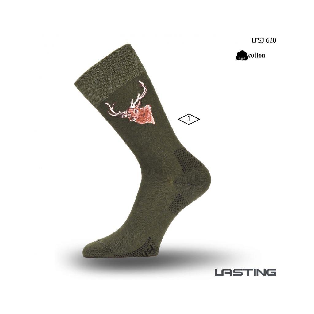 lasting bavlnene ponozky lfsj zelene 2