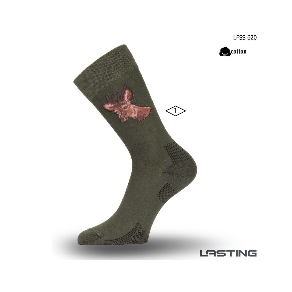 lasting bavlnene ponozky lfss zelene 2