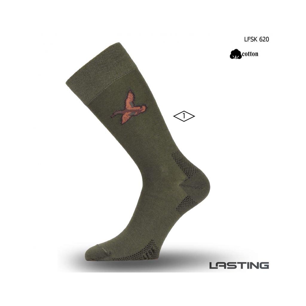 lasting bavlnene ponozky lfsk zelene