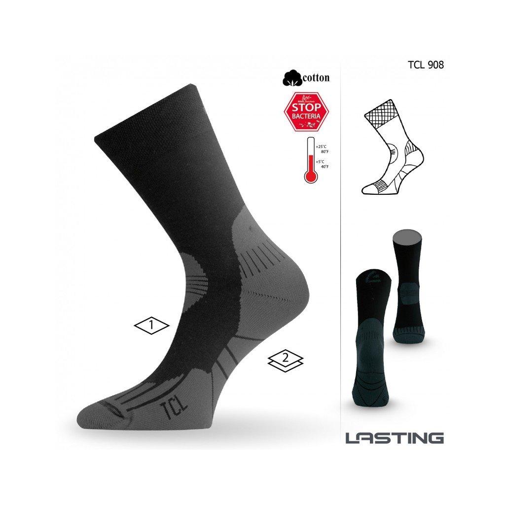 lasting funkcni ponozky tcl cerne