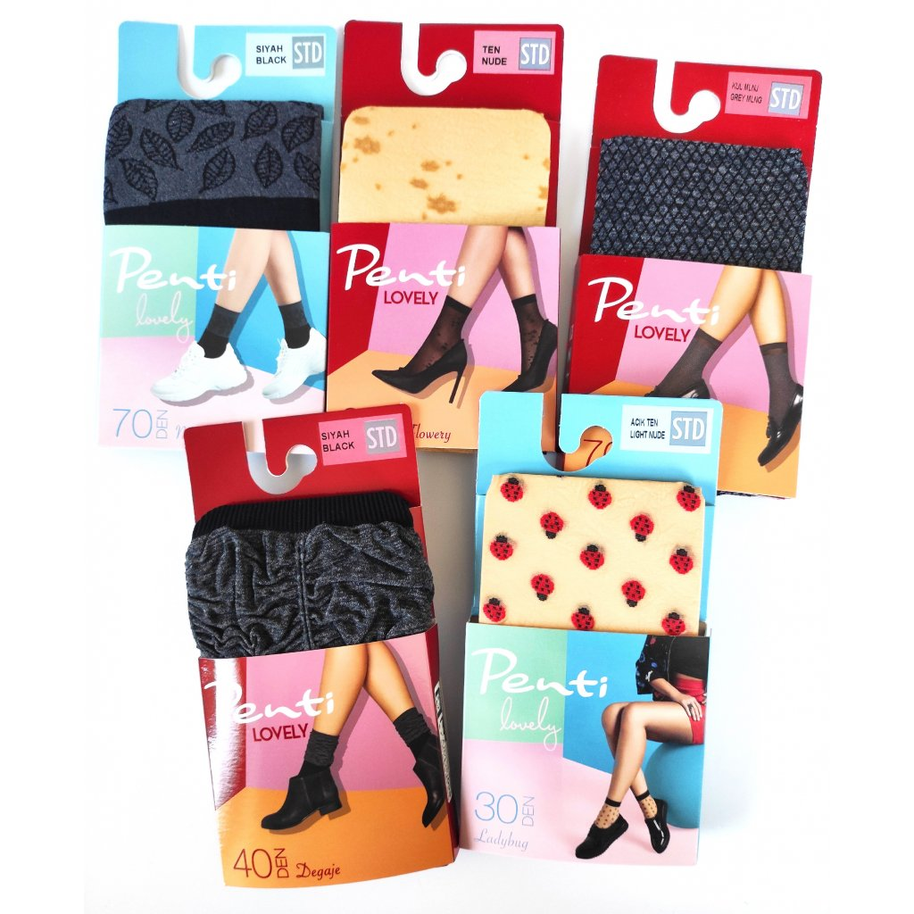 Balíček Silonových ponožek Penti (5 párů)