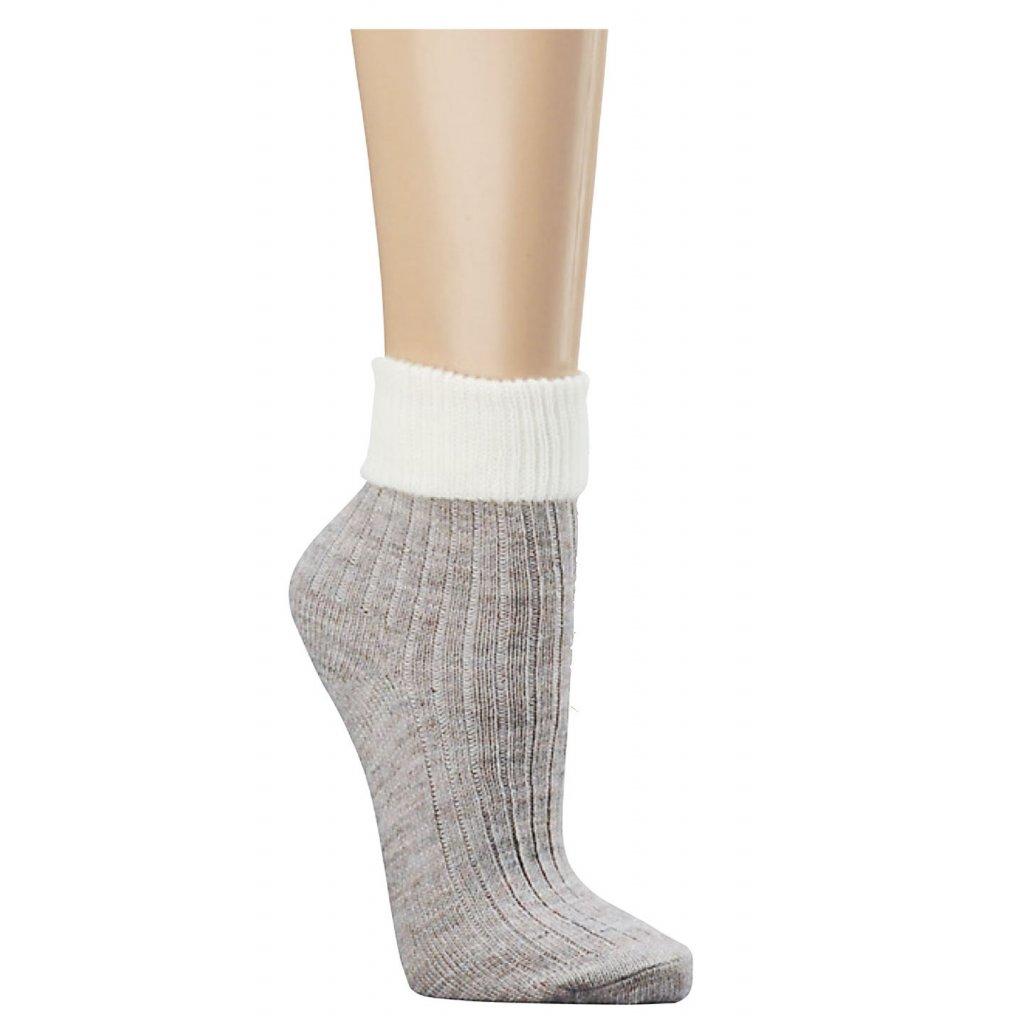 S4F Zimní ponožky s vlnou ALPAKA ohrnovací slabé