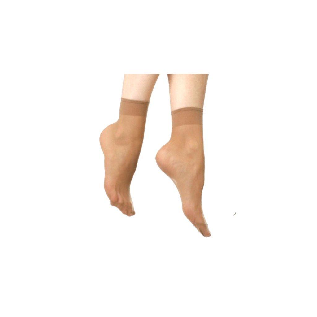 Obyčejné silonové ponožky 5 párů