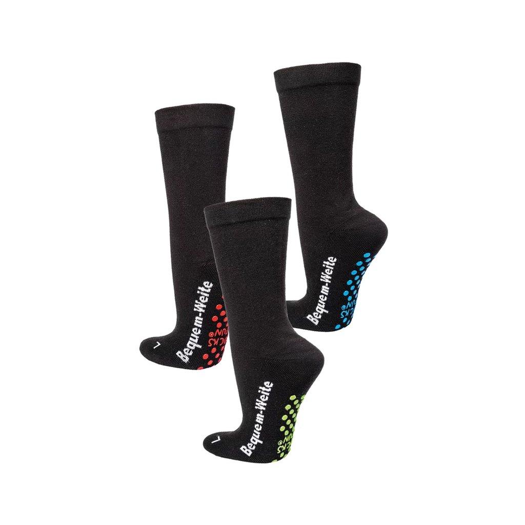 Zdravotní, rozšířené ponožky s protiskluzem