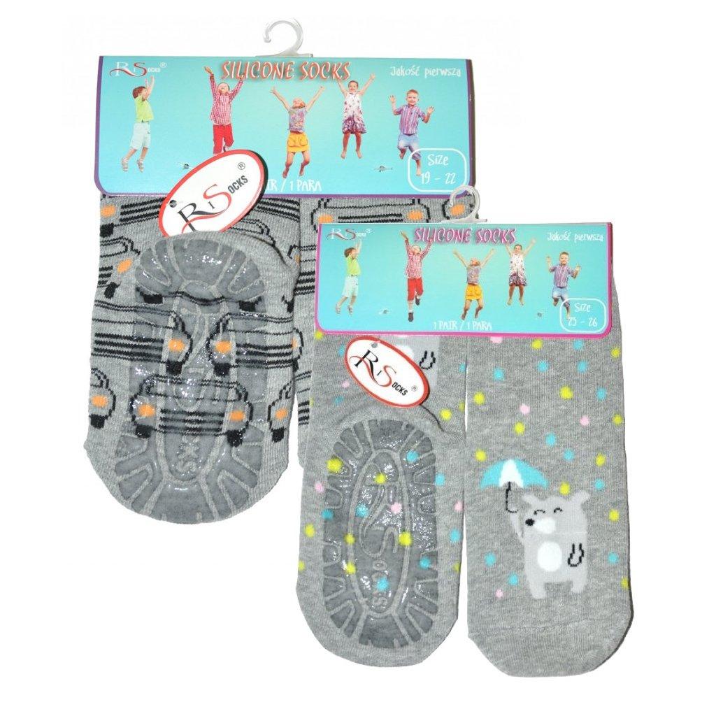 Dětské ponožky s gumovou podrážkou