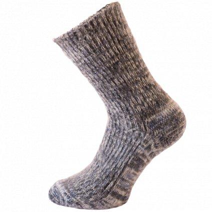 Vlněné ponožky bez lemu (sibiřky)