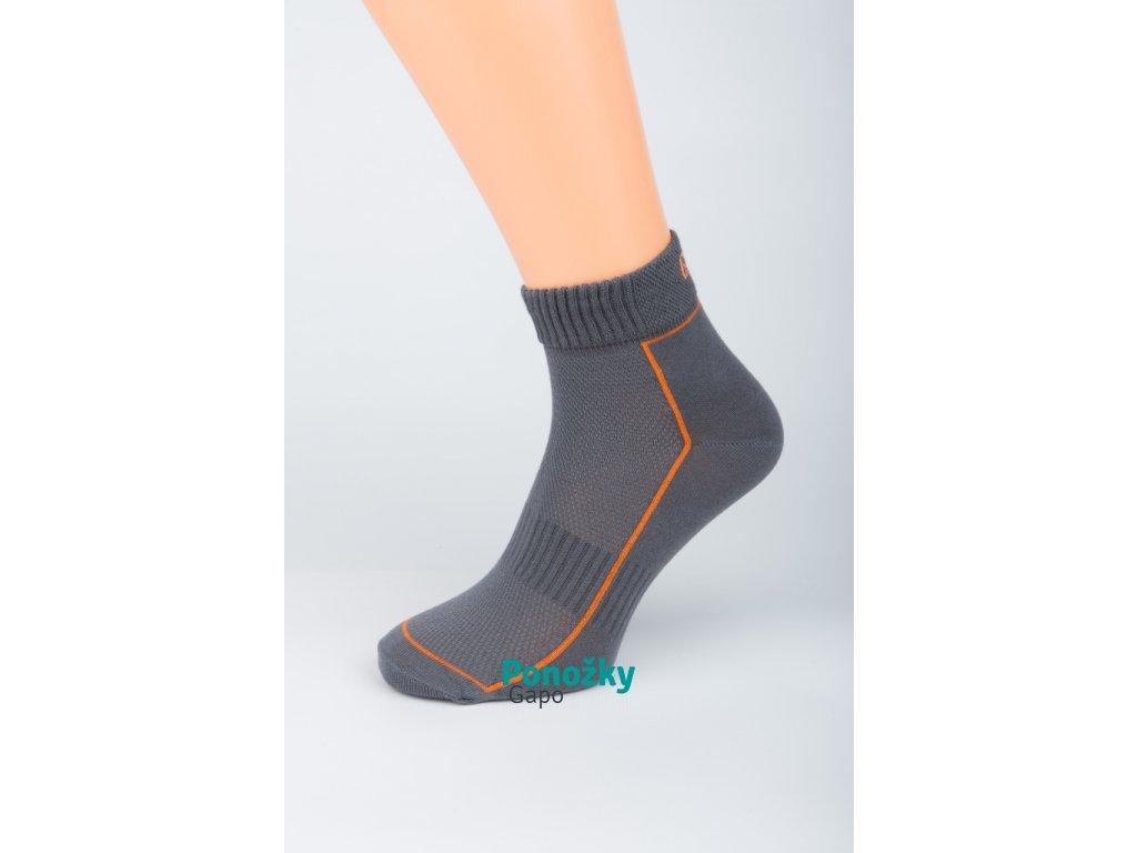 Pánské kotníkové ponožky ANTIBAKTERIA FIT