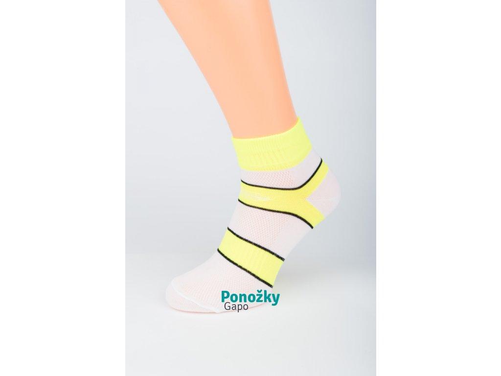 Dámské kotníkové ponožky BÍLÝ PRUH