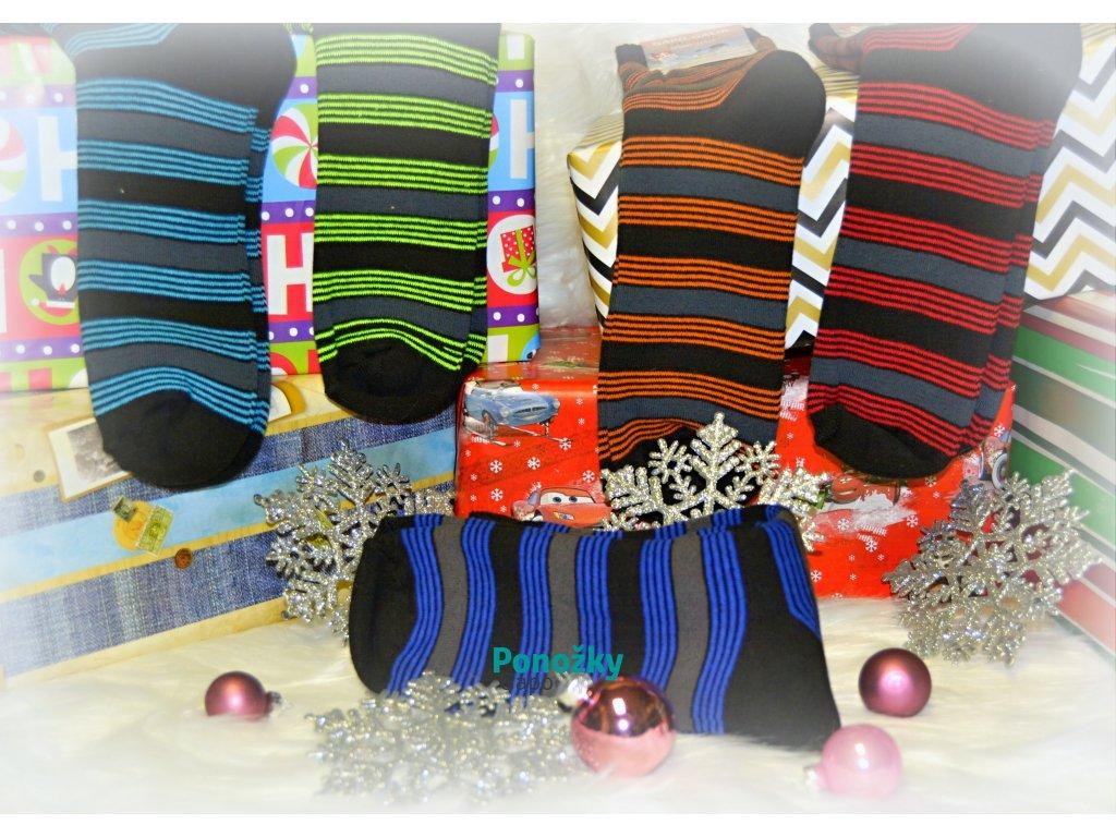 Zimní ponožky PROUŽEK - 5 párů