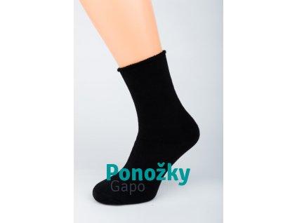 Dámské zimní ponožky ZDRAVOTNÍ THERMO ANTIBAKTERIA HLADKÁ