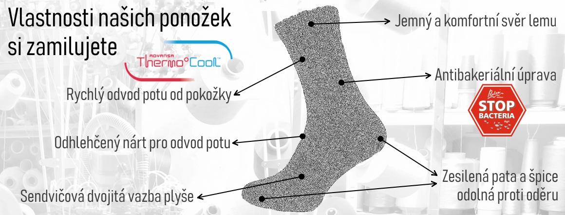 Vlastnosti ponožek se stříbrem
