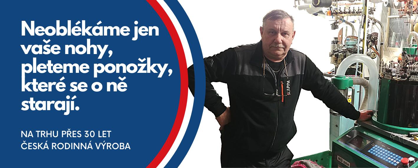 Výrobce českých ponožek se stříbrem