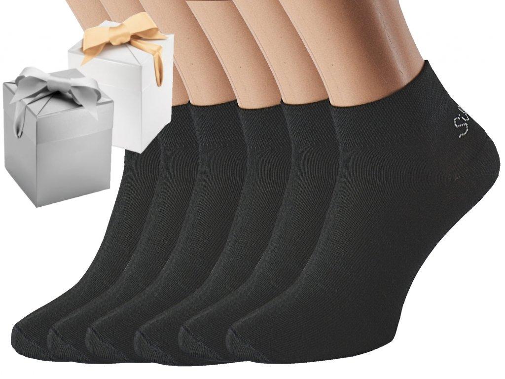 Dárkové balení 6 párů kotníkových ponožek