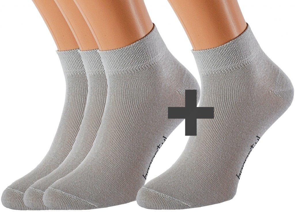 Bavlněné ponožky se stříbrem OBI 3 páry
