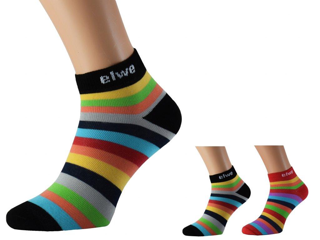 Pruhované kotníkové ponožky