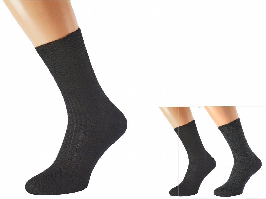 Zdravotní merino ponožky bez lemu LUKÁŠ