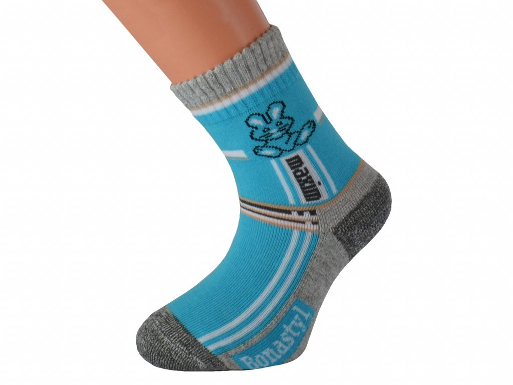 Dětské barevné antibakteriální ponožky