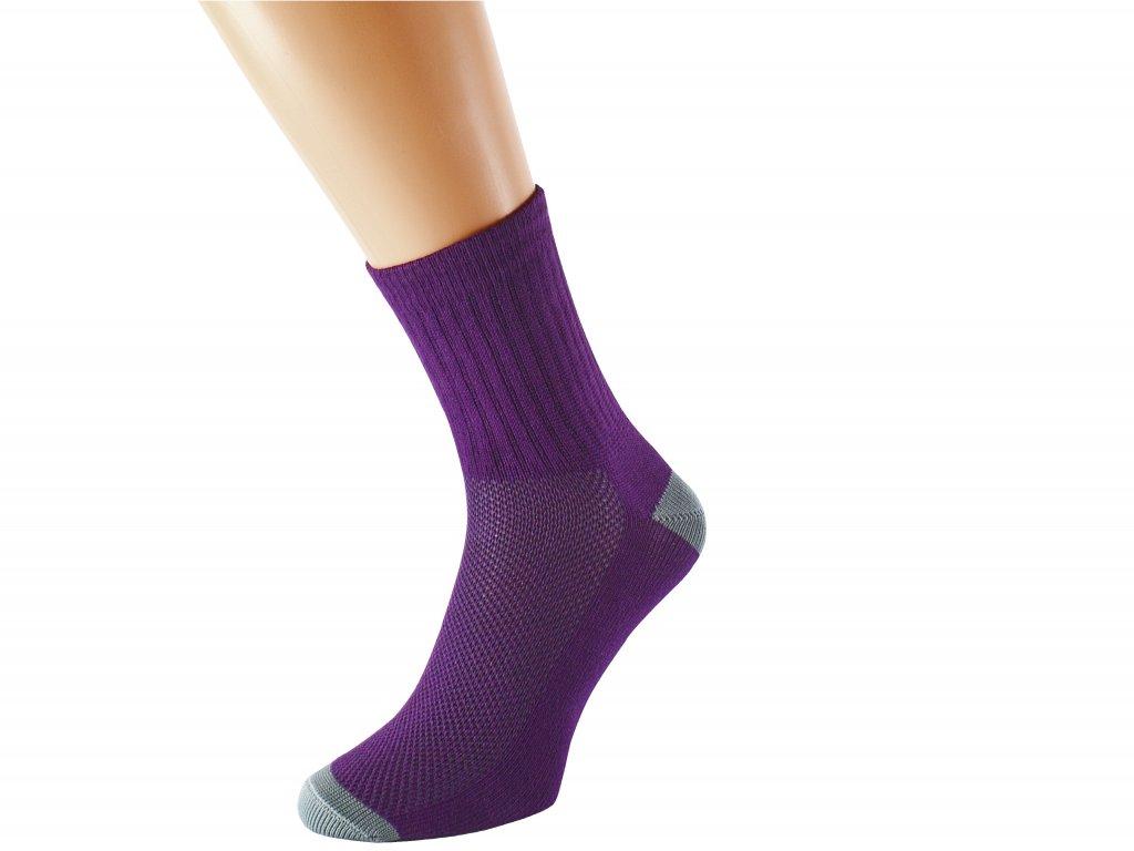 Barevné ponožky se stříbrem