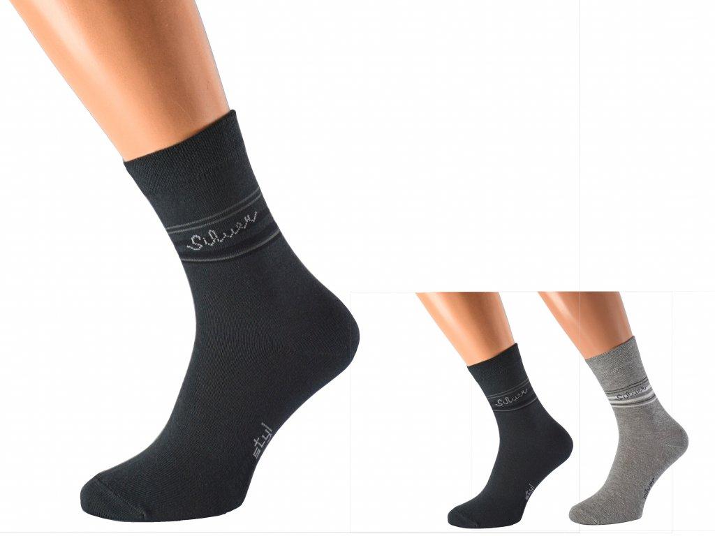 Ponožky se stříbrem proti pocení SILVER