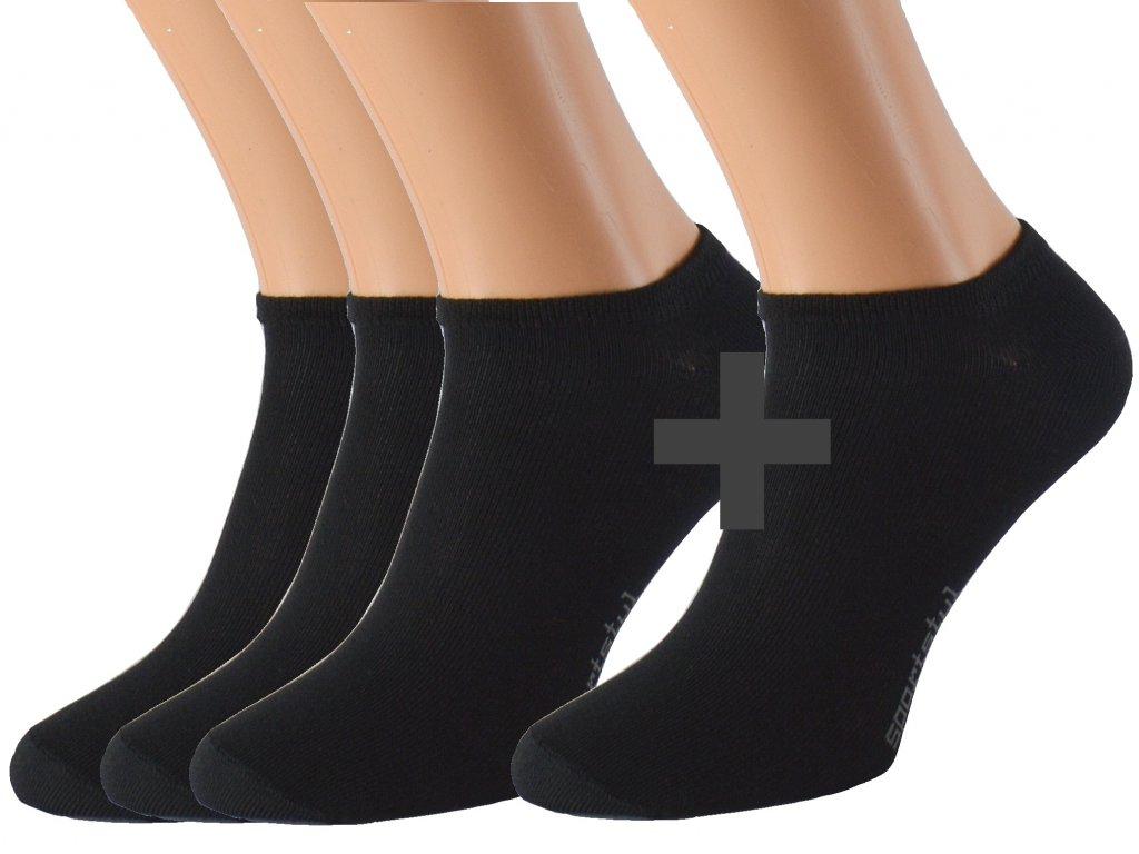 Kotníkové ponožky se stříbrem KRAOBI 3 páry
