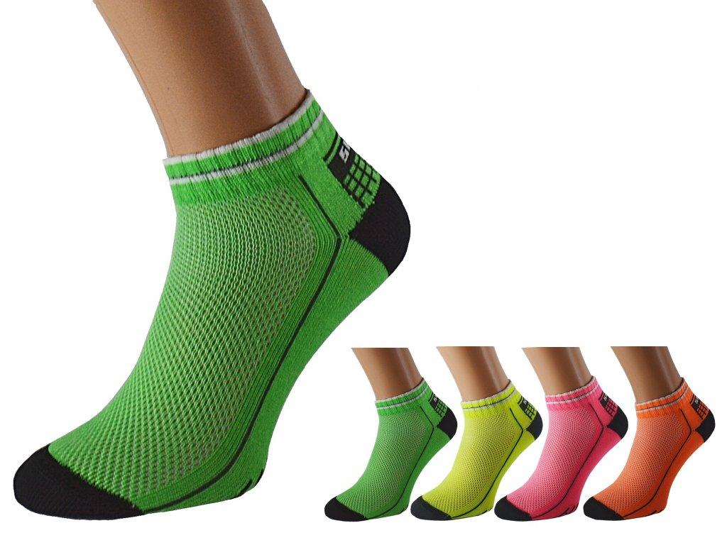 Barevné kotníkové ponožky REFLEX